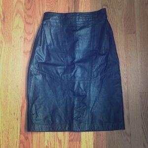 VTG Wilson's leather skirt